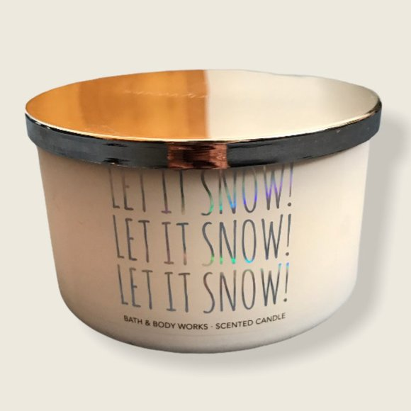 Bath & Body Works Let It Snow Candle 14.5oz